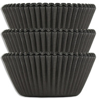 Gunmetal Black Baking Cups