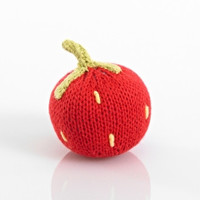Strawberry Fair Trade Knitted Baby Rattle