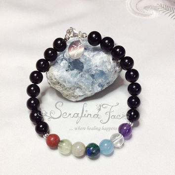 Prophetic Dreams Chakra Bracelet for Men Crystal Healing Gifts for Him Chakra Jewelry Reiki Jewelry Spiritual Jewelry Healing Jewelry