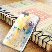 Watercolor Harry Potter The Deathly Hallows Gryffindor Slytherin Hufflepuff Ravenclaw iPhone 6 Plus | iPhone 6S Plus Case