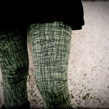GRAPHITE - Military Leggings Green Woodland Urban Decay Post Apocalyptic Punk Goth