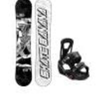 Lib Tech Skate Banana Wide Snowboard w/ Burton Freestyle Bindings