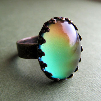Petite Crown Steampunk Mood Ring
