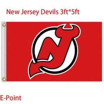DCCK8X2 Jersey Devils USA National Hockey League ( NHL ) Flag 3ft*5ft BC830