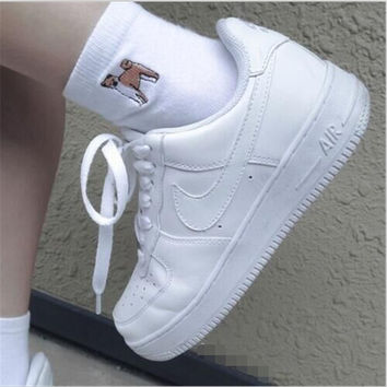 NIKE Women Men Running Sport Casual Shoes Sneakers Heudauo Air force White