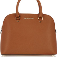 MICHAEL Michael Kors | Cindy Dome large textured-leather tote | NET-A-PORTER.COM