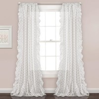 Polka Dot Party Ruffle Window Curtains