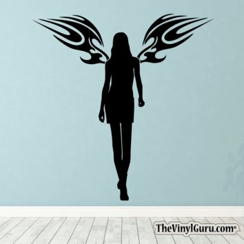 Sexy Angel Pin-Up Girl Wall Decal V
