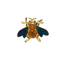 1960s Rhinestone Bee Pin by Trifari