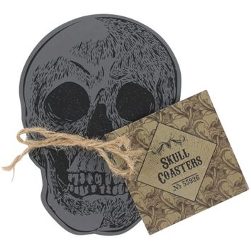 """Skull Coasters"" Set of 4 by Skulls & Things"