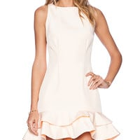 keepsake Borderline Dress in Peach