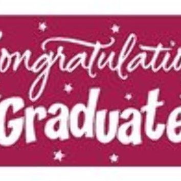 graduation greeting giant banner - burgundy Case of 12