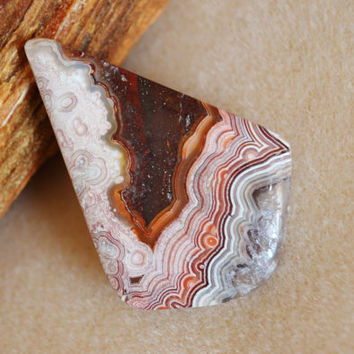 Crazy lace agate cabochon, large agate cabochon, lace agate, loose cabochons, jewelry supplies, agate cabochon, wire wrapping, gemstones