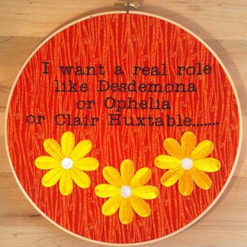 Crazy Eyes - Orange is the New Black - Funny Quote Embroidery Hoop Art