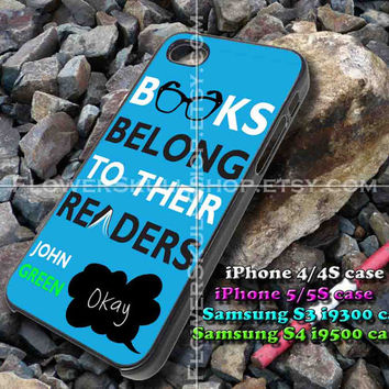 John Green iphone case, iphone 4/4S, iphone 5/5S, iphone 5c, samsung s3 i9300, samsung s4 i9500, design accesories