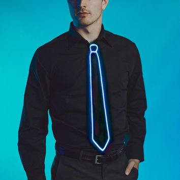 Light Up Tie Blue