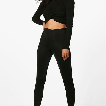 Katie Disco Slinky Leggings | Boohoo
