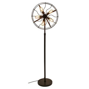 Industrial Vintage Fan Floor Lamp