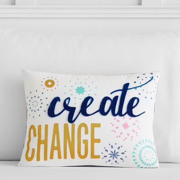 Bright Spirits Create Change Pillow Cover