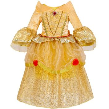 2018 Princess Bell dresses Girls Dress Beauty and The Beast Ball Gown Cosplay Dress Kids Carnival Costume Halloween Costumes