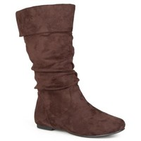 Brinley Co. - Women's Slouchy Microsuede Boots - Walmart.com