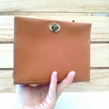 womans leather mini clutch bag