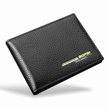 Genuine Leather Credit Card Driver License Men Women ID Card Wallet