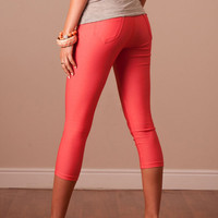 Perfect Fit Capris in Coral