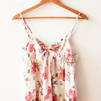 White Floral Tank Top (Forever 21) by Night of the Living Threads