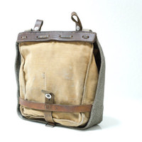 SWISS ARMY Bread Bag 1946, Military Crossover Messenger Bag, Haversack, Pannier, Canvas Leather Bag, Fishing, Made in Switzerland
