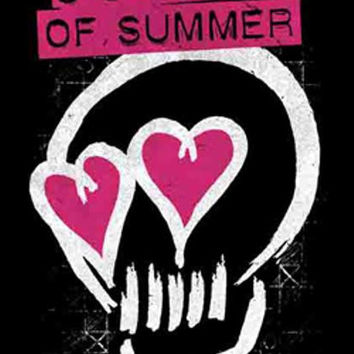 Five 5 Seconds Of Summer Poster Flag Skull Love Tapestry