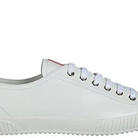 Prada Women's Shoes Leather Trainers Sneakers White