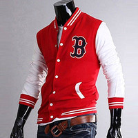 Boston Red Sox Baseball Mens Varsity Jacket