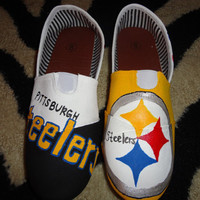 Handpainted womens shoes Pittsburgh Steelers Any size