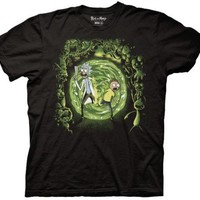 Rick and Morty Portal and the Monsters Adult Swim Funny TV Adult T Shirt