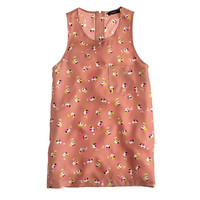 J.Crew Womens Falling Pansies Twill Tank Top