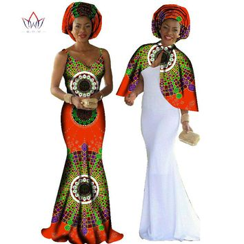 African Print Dress Dashiki Women 2 Pieces Set