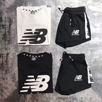 New Balance/NB Women Fashion Short sleeve Top Shorts Pants Sweatpants Set Two-Piece Sportswear