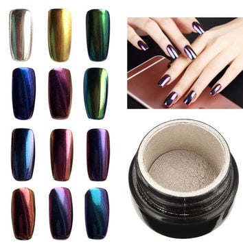 Magic Mirror Chrome Effect Metallic Powder Additive Pigment Nail Art 10 Colors To Choose
