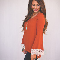 Orange Bell Sleeve Tunic
