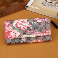 Floral Gucci Leather Wallet