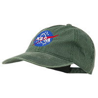 NASA Insignia Embroidered Pigment Dyed Cap - Dk Green OSFM