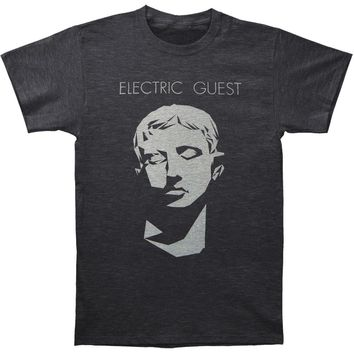 Electric Guest Men's  Face On Black Vintage T-shirt Black Rockabilia