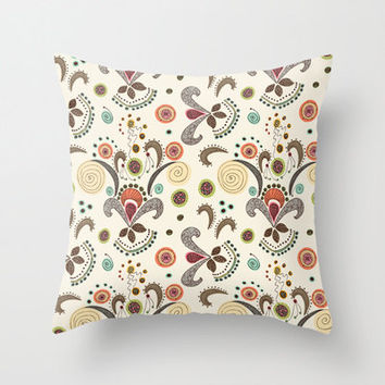 Wired Flower Pattern Indoor and Outdoor Throw Pillows