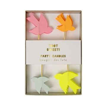Neon Bird Celebration Cake Candles