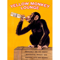 Personalized Monkey Lounge Wood Sign