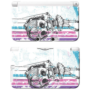 Creepy Doll Emo Art Print Nintendo 3DS XL Plastic Case Horror Gothic