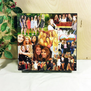Custom Photo Collage, Photo Collage Box, Personal Collage Keepsake Box, Photo Collage, Personal Photos, Customized Photo Box, Photo Box