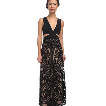 BCBGMAXAZRIA Marilyne Deep V-Neck Dress with Cutout Black - Zappos.com Free Shipping BOTH Ways