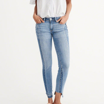 Womens Step Hem Super Skinny Jeans | Womens Bottoms | Abercrombie.com